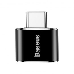 Adapter Baseus USB do USB Type-C 2,4A (czarny)