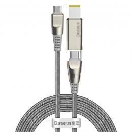 Kabel 2w1 Baseus Flash Series, USB-C do USB-C / wtyczka Lenovo, 100W, 2m (szary)